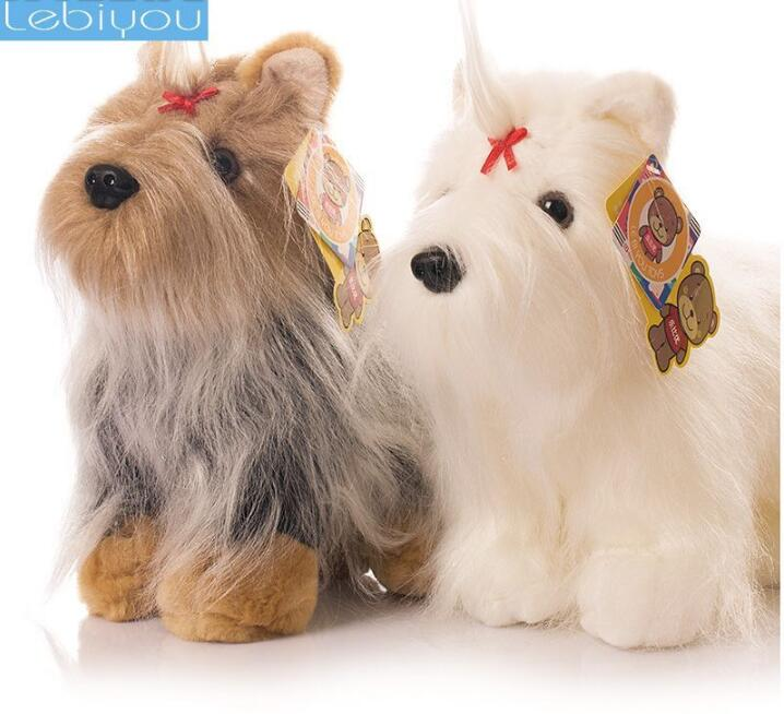 Plush Animals Toy Yorkshire Simulation Dog Doll  Children 'S Toys Gifts super cute plush toy dog doll as a christmas gift for children s home decoration 20