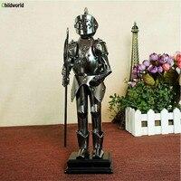 Vintage Mage Samurai Statues Sculptures Series Hand Hold Long Ax Samurai Wrought Iron Handicrafts Home Decorations