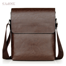 Crossbody Bags For Men PU Leather Shoulder Bag Male Casual S
