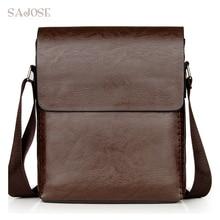 Crossbody Bags For Men PU Leather Shoulder Bag