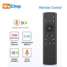 G20 Voice Air Mouse funzione di apprendimento IR 2.4G telecomando tastiera Wireless per Android TV Box X96 mini TX6 H96 pro T95Z max