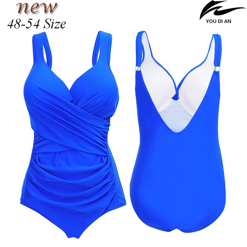 48 to 54 Size New Women plus size swimwear one piece swimsuit larges size Russian push up swim swimming bathing suit beachwear все цены