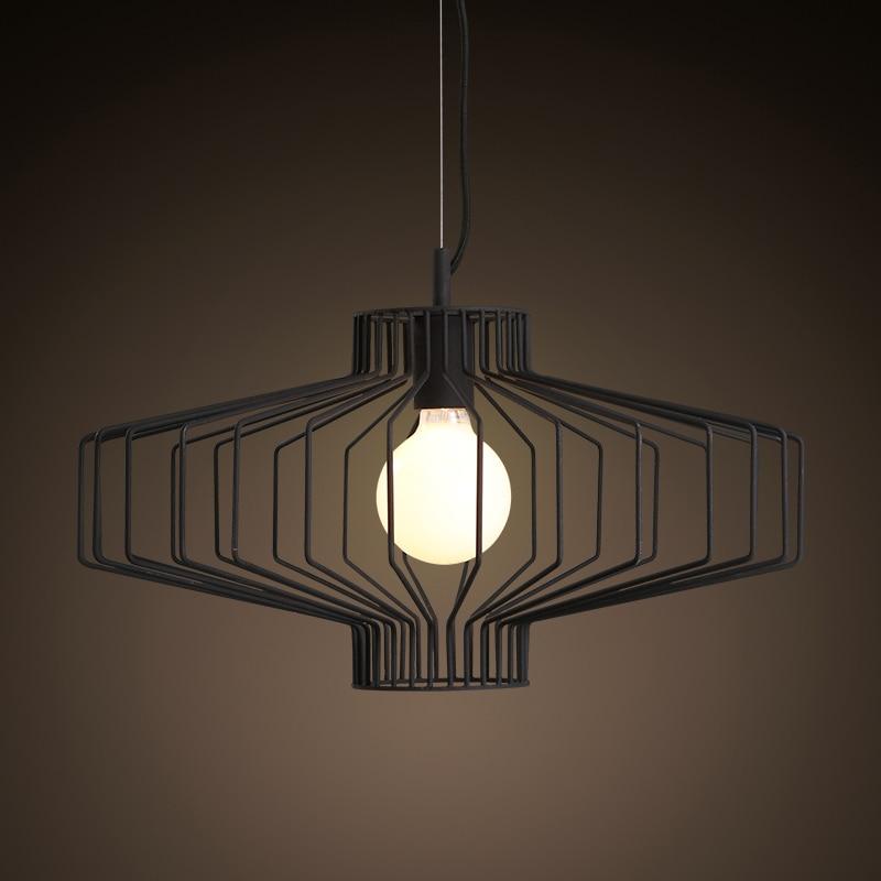 Luminaria Single Head Simple Iron Lantern Chandelier Lighting For Restaurant Living Room Balcony Couture Hanglamp LED Lighting