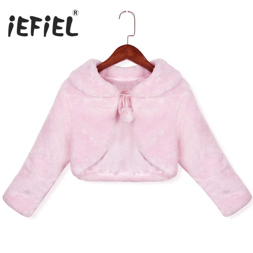 c799cfd08820 Detail Feedback Questions about 2018 New Arrival Pink White Girls Winter  Faux Fur Long Sleeves Coats Kids Baby Coat Fashion Flower Girl Birthday  Party ...