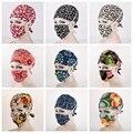 Novos 20 Tipos Padrão de Impressão Flor Matagal Cap Chapéu + Máscara de Cirurgia Médica Cirúrgica DAJ9062