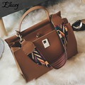 Ellacey Women PU Casua Handbags For Ladies Hand Bags Shoulder Woman Luxury Tote Handbag Womens Hand Bags Designers Lock Hasp