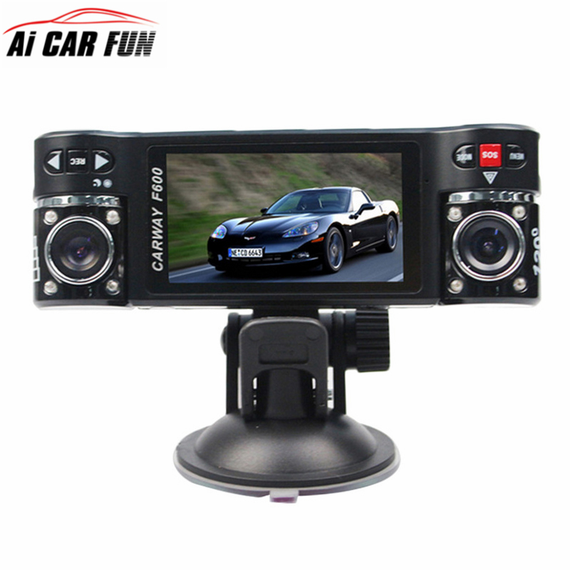 Car DVR 2 7 TFT 8 LCD HD 1080P Dual Camera Rotated lens Vehicle Driving Digital