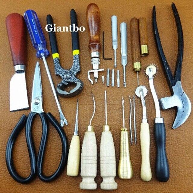 Hecho a mano herramientas de cuero zapateros zapatero Kit