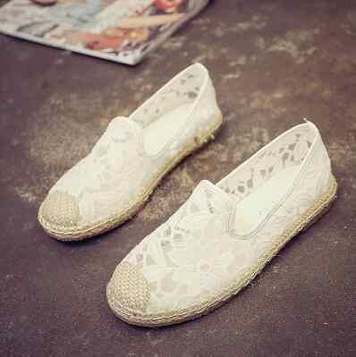 ใหม่ 2017 ผู้หญิงผู้หญิง Loafers, รองเท้าหนังนิ่ม, รองเท้าสุภาพสตรี Espadrilles, หญิง Casual Slip - on, สีดำ/สีขาวรองเท้าแบน