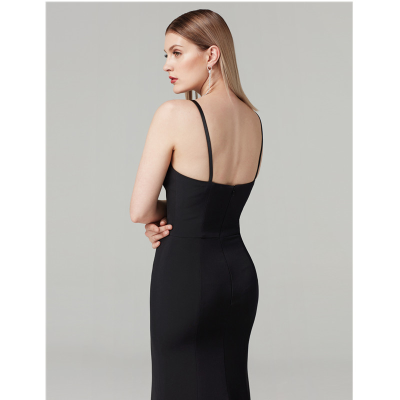 TS Couture Mermaid / Trumpet Y Neck Sweep / Brush Train Spandex Formal Graduation/ Black Tie Gala Dress