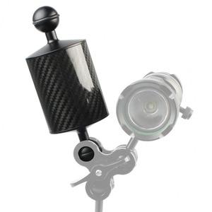 Image 2 - Flotador de fibra de carbono para cámara de buceo brazo acuático de doble bola, bandeja de submarinismo para Cámara de Acción Gopro