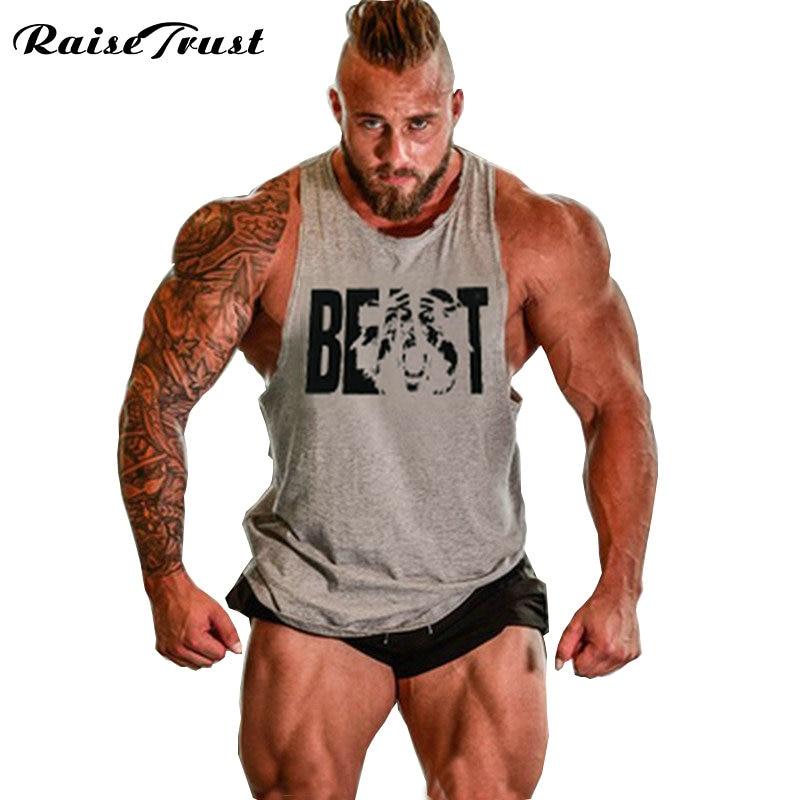 Musculation! 2019 rompi binaraga pakaian dan kebugaran pria kaos tank top tops medali emas pria kaos XXL dunia terima kasih