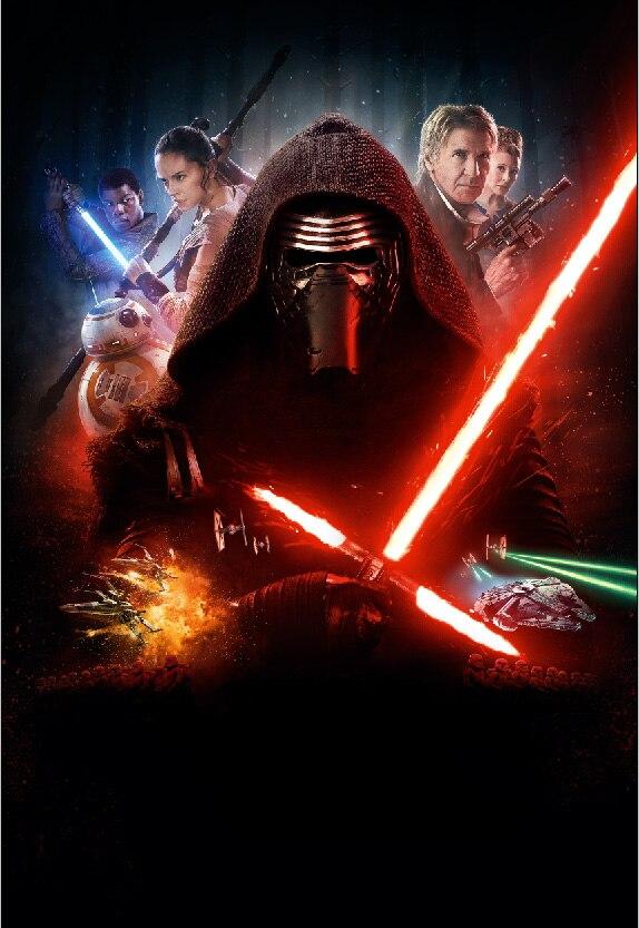 5x7ft Star Wars Force Wekt Kylo Ren Rey Poster Custom Fotografie Studio Achtergrond Vinyl 150 Cm X 220 Cm Een Effect Produceren Voor Een Heldere Visie