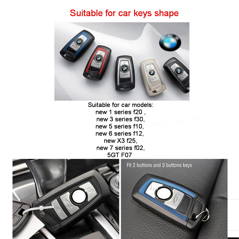 Tonlinker 1 PCS Car Leather Wallet Key Cover Case For Bmw Holder 3 5 6 7 Series F20 F30 F10 F12 F25 F02 F07 In From