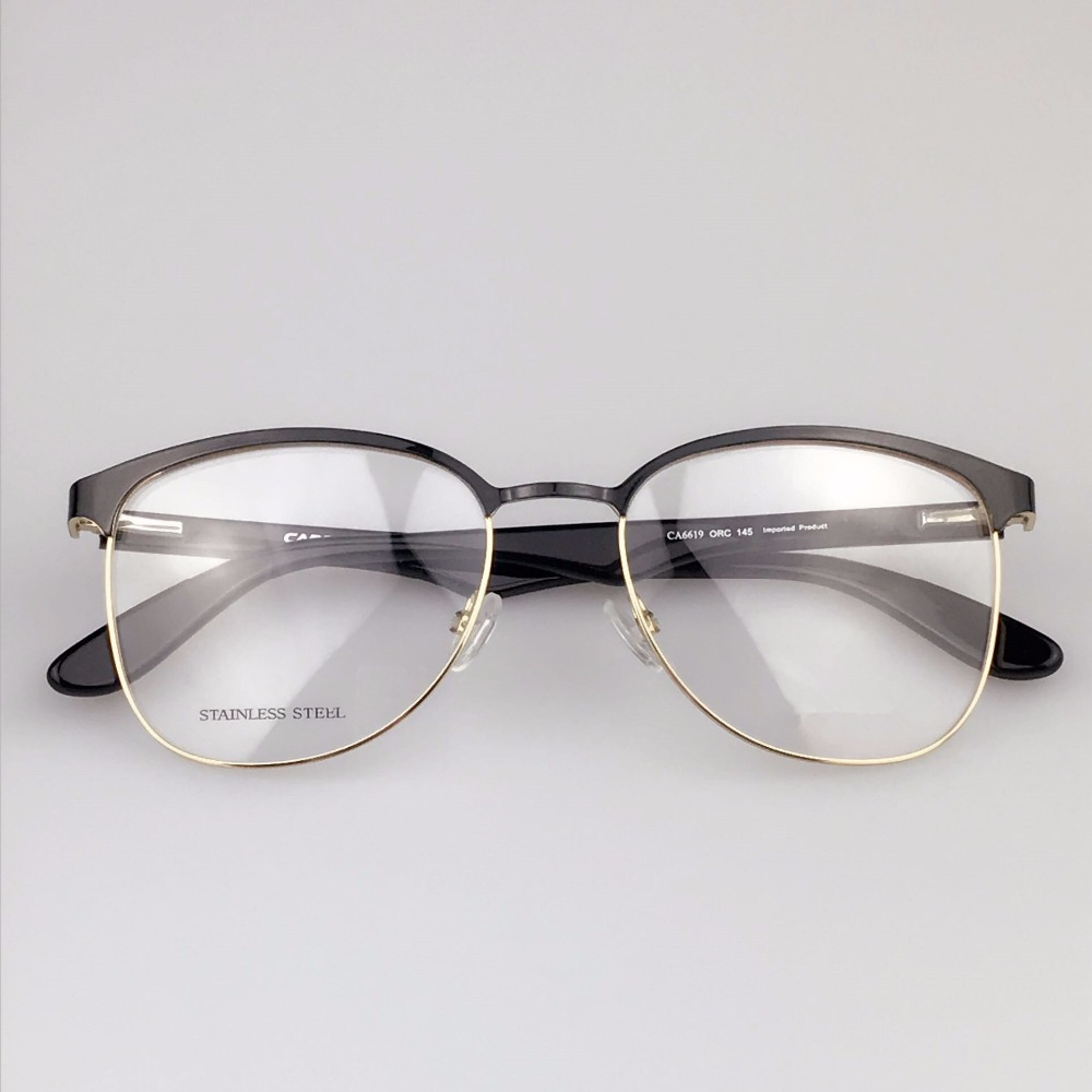 free shipping new eyeglasses metal thin border neutral style of fashion 100 lap ca6619 optical glasses
