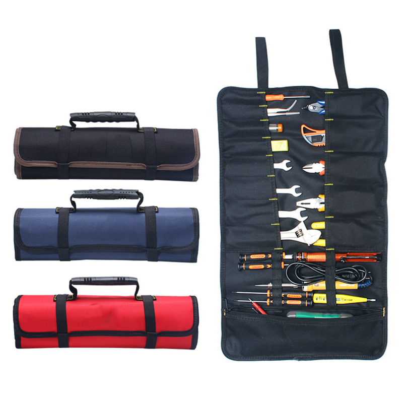 2018 Multifunction Tool Bags Practical Carrying Handles Oxford Canvas Chisel Roll Bags For Tools Instrument Case 3 Colors