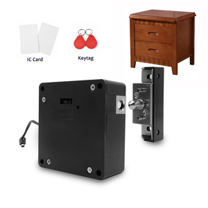 Image 1 - Smart Electronic Hidden RFID Cabinet Lock No Hole Easy Installation Furniture Locker Wardrobe Shoe Cabinet Drawer Door Lock With Two Cards/Keytags