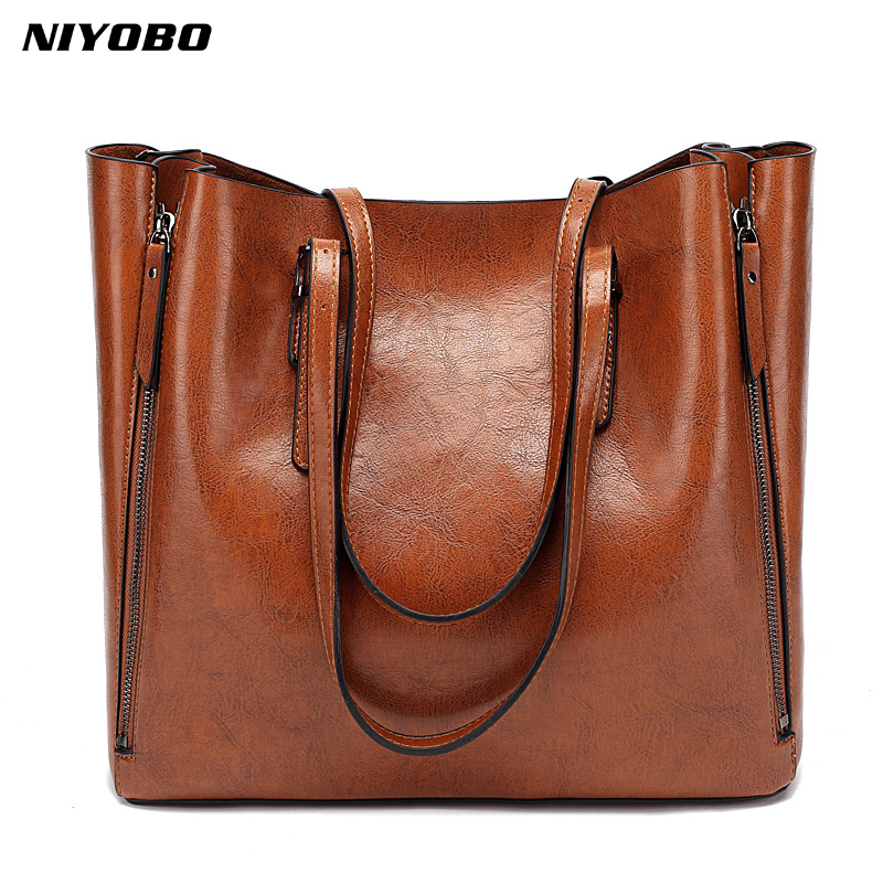 NIYOBO Luxury PU LEATHER Women Handbags New Fashion Female Messenger Bags Shoulder Bags Large Capacity Woman Totes Bolsos Mujer 2017 new female genuine leather handbags first layer of cowhide fashion simple women shoulder messenger bags bucket bags