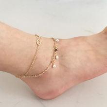 Женский двухслойный браслет с кисточками Модный золотой жемчугом