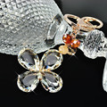Lucky Clover Crystal Clear Keychain Car Key Ring Bag Charm Key Holder Key Chains Chaveiro Llaveros Mujer Friend Gift
