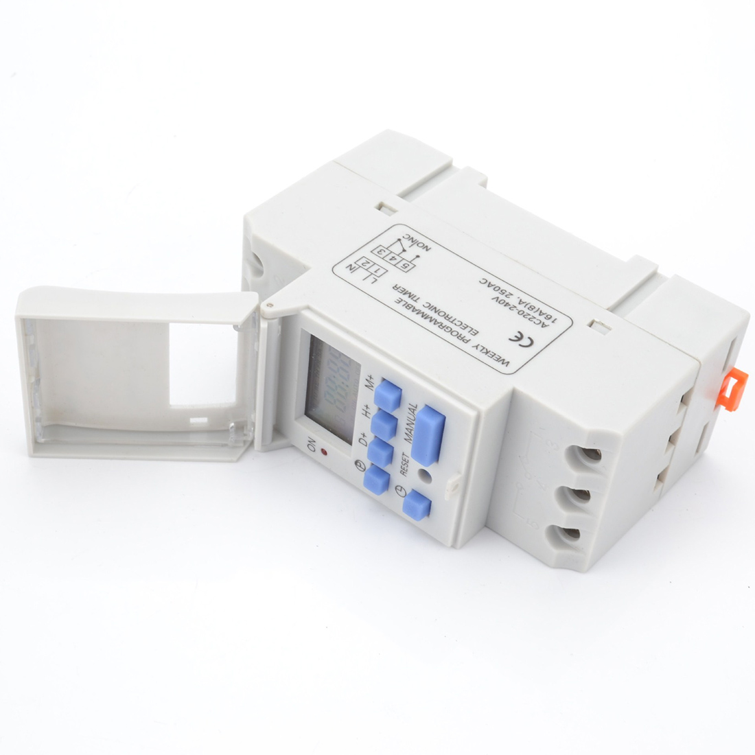 Relay Control Electronic Weekly 7 Days Programmable Digital Timer Switch 220V 230V 6-30A Safe and reliable thc15a zb18b timer switchelectronic weekly 7days programmable digital time switch relay timer control ac 220v 30a din rail mount