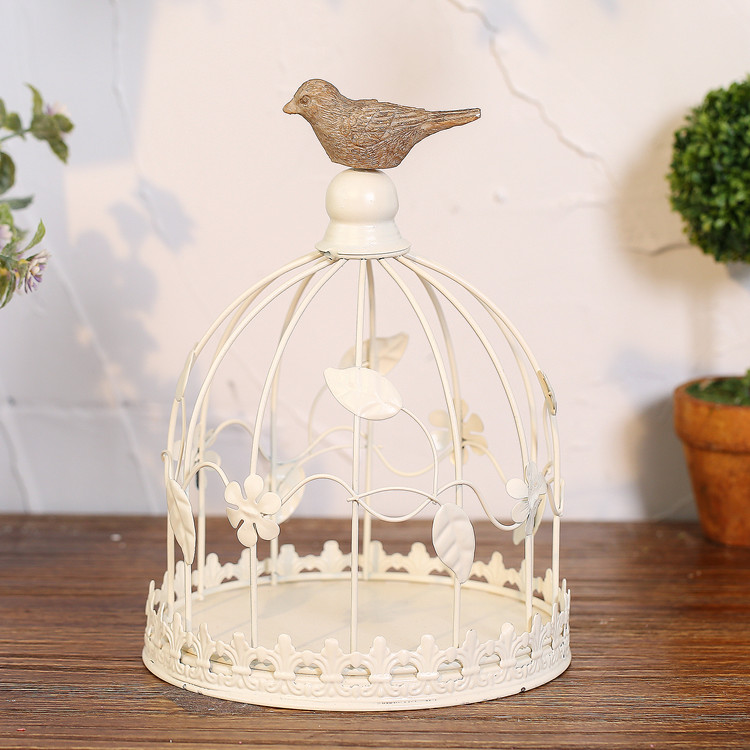 Wedding Decoration Bird Cage Antique Metal Bird Cages Candle Holder White  Color Bird Cage Home Decoration Bird Cage Candle Stick In Candle Holders  From Home ...