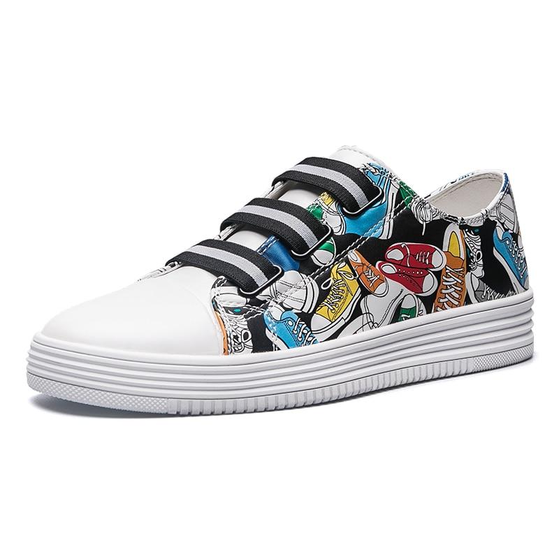 MangoBox Store 2017 New Skateboarding Shoes For Man Gray White Mens Platform Sneakers Cheap Male Walking Shoes Spring/Summer Sports Shoes Men