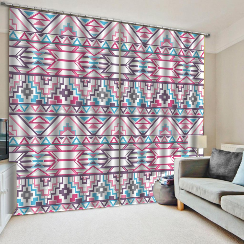 stereoscopic curtains   colorful curtains  Luxury Blackout 3D Window Curtains For Living Room Bedroom Customized size