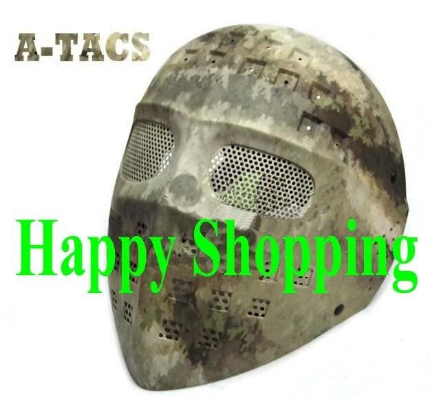 Тактическая Новая стальная сетка с Полнолицевой хоккейной страйкбол охотничья защитная маска A-TACS
