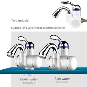 Image 3 - Kbxstart Электрический нагреватель горячей воды, кран для ванной комнаты с поворотом на 180 градусов, 220 В