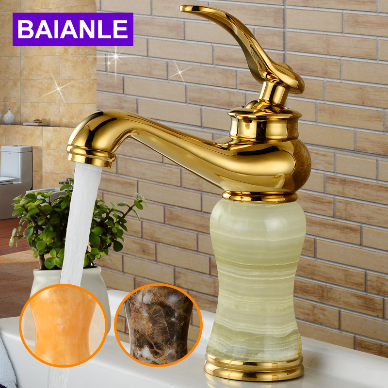 Free Shipping Golden Deck Mounted One Hole Basin Sink Mixer Faucet Single Lever Bathroom Mixer Faucet Taps цена