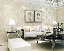 beibehang papier peint Luxury European three-dimensional pressure nonwoven wallpaper Living room bedroom dining background