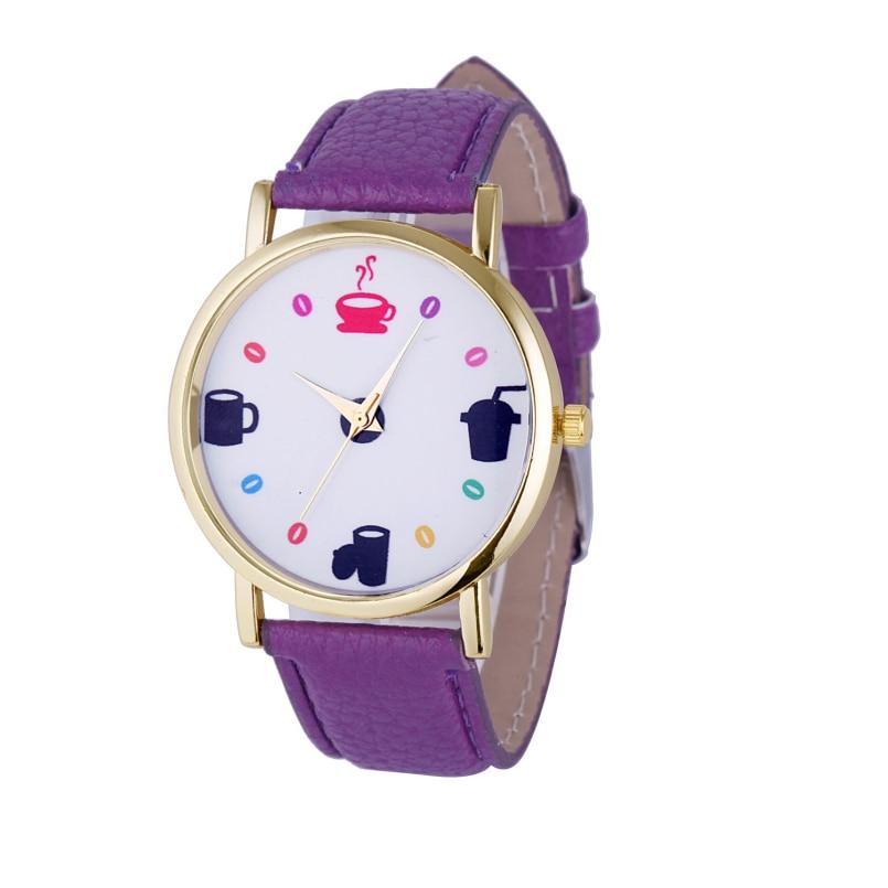 Excellent Quality Relogios Femininos De Marca Fashion Women Wristwatch Faux Leather Strap Analog Display Quartz Casual Watch