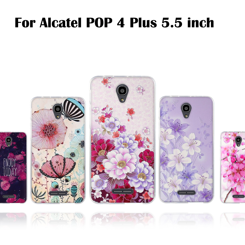 Cellphones & Telecommunications Ot5056 5.5 Inch 3d Relief Cover Protection Thin Cases Colorful Cover Cute Cartoon Shells Limpid In Sight Soft Tpu Case For Alcatel Pop 4 Plus 4