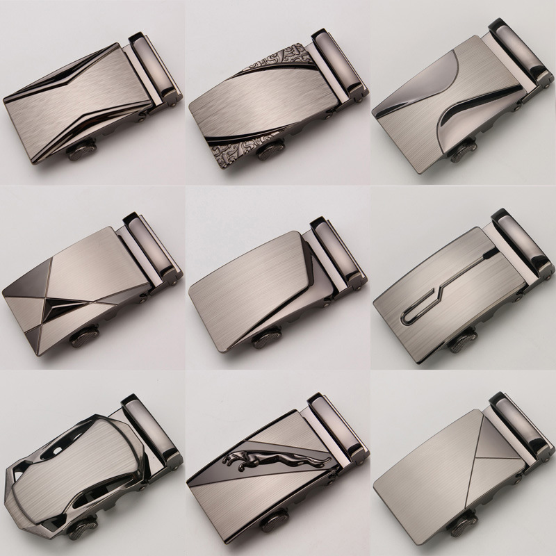 Guan Pin Genuine Men's Belt Head, Belt Buckle, Leisure Belt Head Business Accessories Automatic Buckle Width 3.5CM