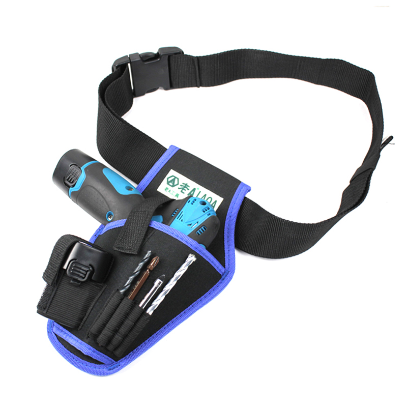 LAOA Electric Drill Bag Portable Professional Electrician Waist Bag Household Electric Drill Package