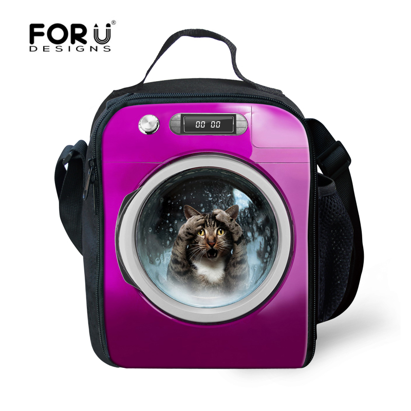 Exclusive Insulated Lunch Bags For Children Cute Dog Cat Head Large Lunchbags For Women  ...