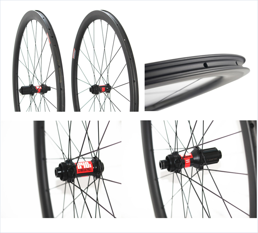 700C disk 38mm 45mm 50mm tubeless clincher carbon road bicycle wheelset  straight pull wheels cycling cyclocross wheels