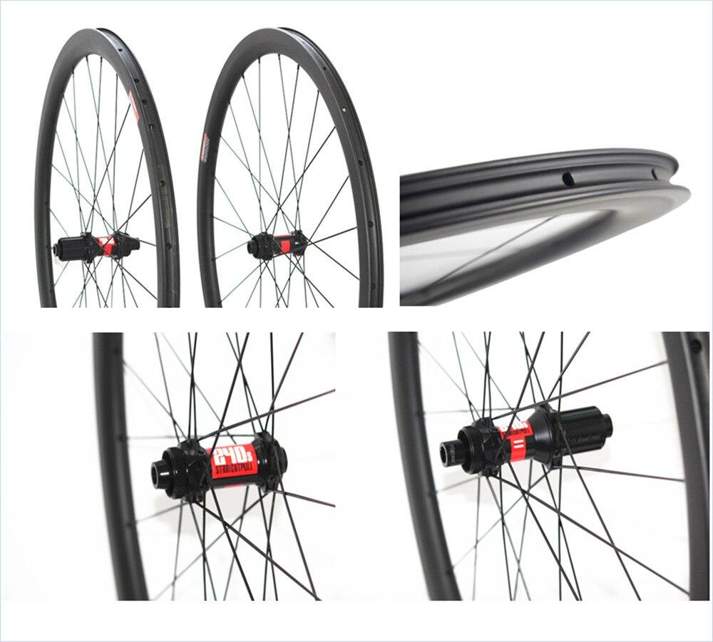 Disco 700C 38mm 45mm 50 milímetros tubeless clincher carbono estrada da bicicleta rodas de bicicleta rodas cyclocross rodado puxar em linha reta