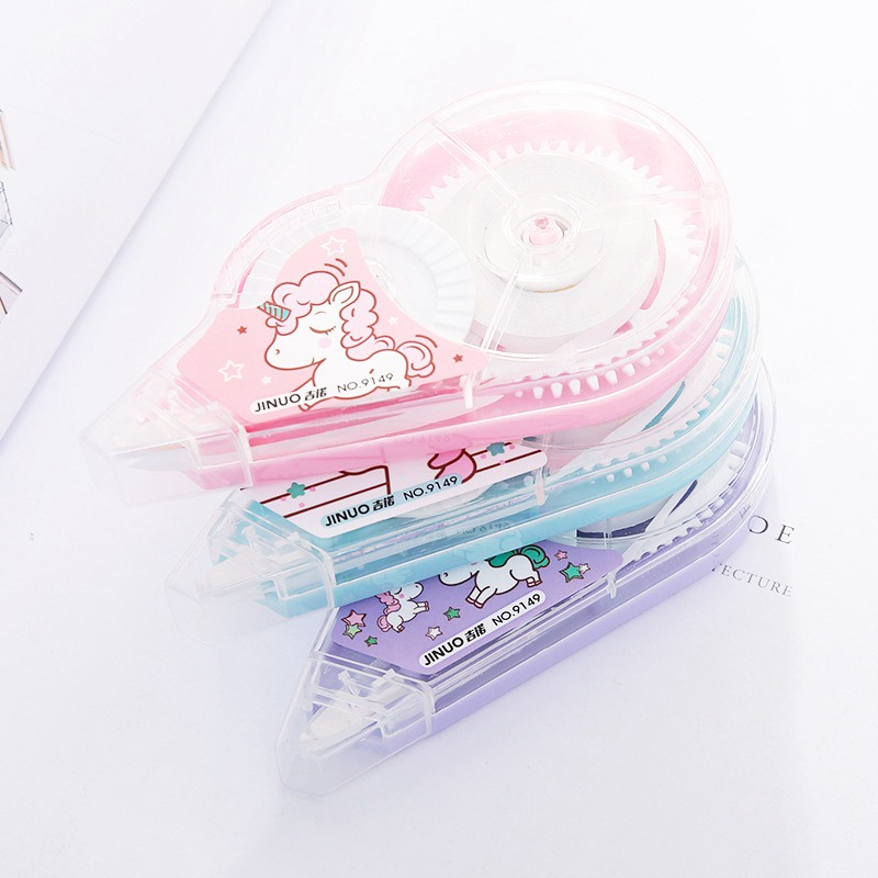 1PC 5mm*30m Kawaii Unicorn Correction Tape Cute Cartoon Correctie Glue Tapes White Out Office School Supplies Korean Stationery