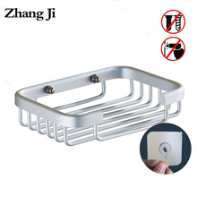 ZhangJi Aluminium Alloy Soap Dish No punch Dual-use Bathroom Holder Container Kitchen Sink Accessory Box