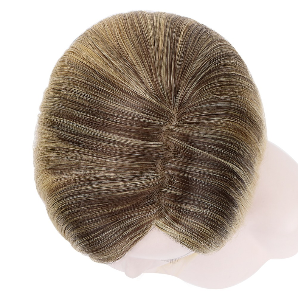 reta loira ombre perucas sintéticas com franja