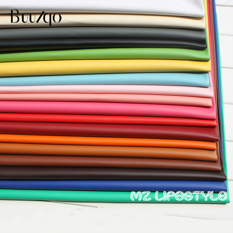 Buulqo 50*138cm Nice PVC leather by meter Faux Leather Fabric for Sewing,  artificial leather for DIY bag material