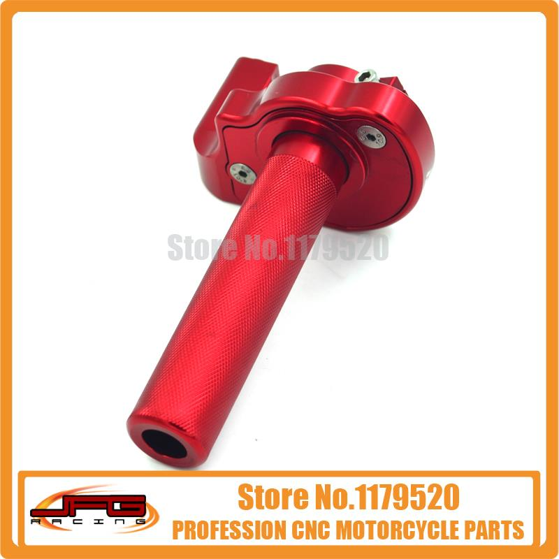 CNC TWISTER THROTTLE ASSEMBLY FOR DIRT BIKE PIT MOTORCYCLE XR50 CRF50 70 100 150 RED - JFG RACING store