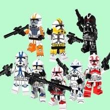 CZHY 8 pcs Star Wars Clone Trooper Figura Stormtrooper Tijolos de Bloco de Construção Melhor Coleção Modelo Brinquedos de Presente Para Crianças PG8078