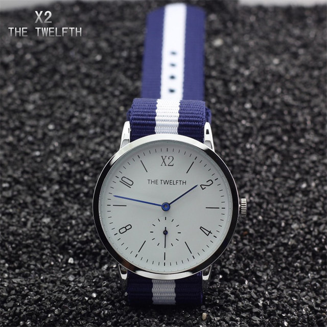 Montre homme 2016 X2 THE TWELFTH Luxury Fashion Watches High Quality Nylon Straps Men's Watch Street Style Quartz Watch Male