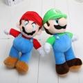 25cm New Super Mario Bros Stand Mario Luigi Plush Doll Stuffed Toy