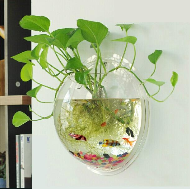 wall hanging mounting acrylic fish tank wall aquariums wall fish tank home decoration free. Black Bedroom Furniture Sets. Home Design Ideas