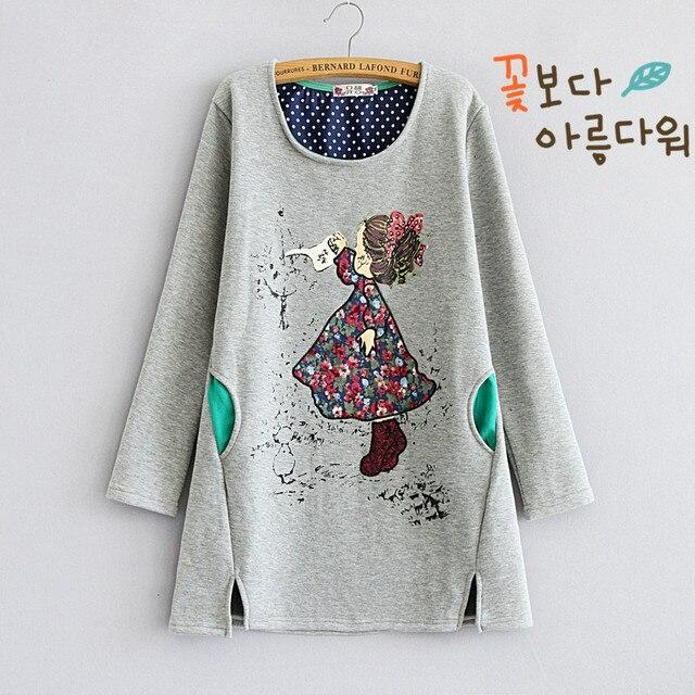 Maternity autumn 2016 new cashmere sweater coat plus Korean cotton loose big winter dress code for pregnant women