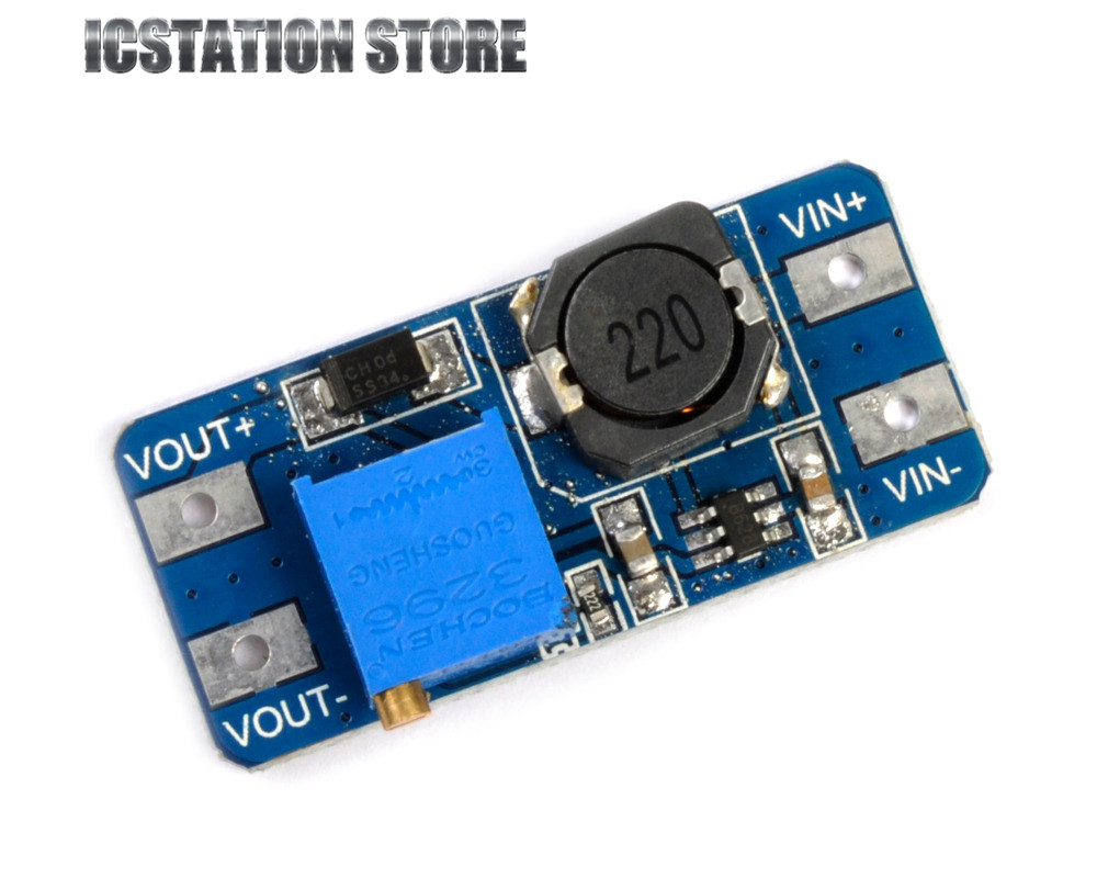 5pcs MT3608 DC-DC Adjustable Boost Module 2A Boost Plate 2A Step Up Module with MICRO USB 2V - 24V to 5V 9V 12V 28V LM2577 источник питания oem dc dc 1 5v 5 500 usb mp3 43256 dc dc step up boost module